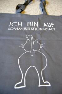 """""""Ich bina auf Kommunikationsdiät"""" - Beutel"""